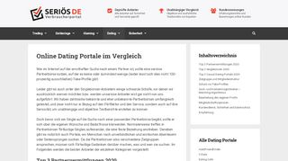 vergleich online dating portale
